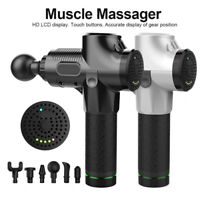 Massage Gun Deep Percussion Tissue Vibrater Muscle Full Body Therapy Massager BC