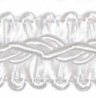 ab 10,0 m Posamentenborte 12 mm (0,47€/m) Weiß Schmuckband Spitze Bordüre Borte