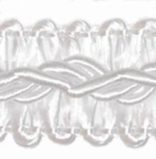 2,0 m Posamentenborte 12 mm (0,5�'�/m) Weiss Schmuckband Spitze Bordüre Borte Chic
