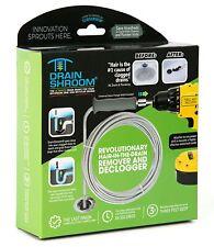 Drain Shroom Revolutionary Tub and Sink Snake Auger Clog Remover for Bathroom