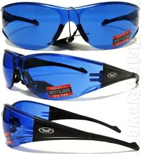 Global Vision Full Throttle BLUE Lens Safety Glasses Motorcycle Sunglasses Z87+