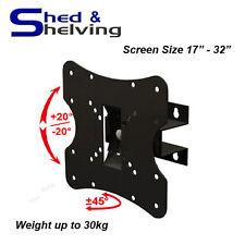 "Adjustable Tilt Swivel Small LCD 17""-32"" TV Wall Mount Bracket VESA up to 30kg"