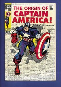 Captain America #109 Origin Retold Stan Lee Jack Kirby Classic Cover HIGH GRADE