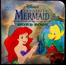 DISNEY'S LITTLE MERMAID WORD BOOK ~ Toddler Golden Nugget Chunky Board Book