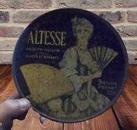 Ancienne Boîte Tôle Vide Altessse Gaufrette Feuilletée Biscuits Pernot Dijon