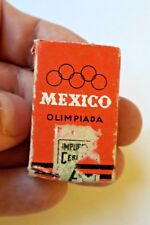 MEXICO matchbook olympic advertisement 1968 tax stamp Impuesto Cerillos A30