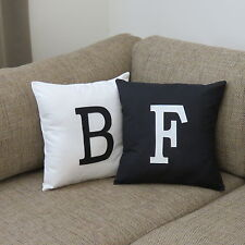 MONOGRAM INITIAL CUSHION COVER - Personalised with your chosen letter/s