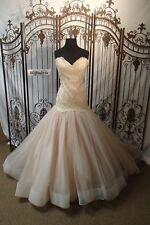 V342W LAZARO 3402 SZ 12 PEONY $4735 #1547V121 STUNNING WEDDING GOWN DRESS