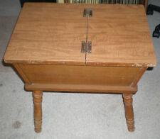 "Vintage Mid Century 1950s MAPLE DOUGH BOX table End Table 23"" x 22"""