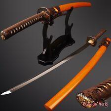 Japanese samurai Katana sword Clay Tempered real rayskin Full tang Battle ready