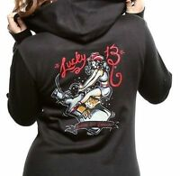 624ee83704103f Lucky 13 Giddy Up Riding Whiskey Booze Black Juniors Hooded Zip Up  Sweatshirt