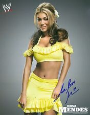 ROSA MENDES WWE SIGNED AUTOGRAPH 8X10 PROMO PHOTO W/ PROOF