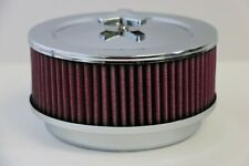 """6 3/8"""" x 3 7/8"""" Chrome 4 Bbl Washable Air Cleaner Domed Top Chevy Sbc 350 Bbc"""