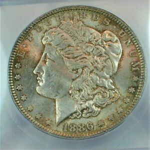 1886 Morgan Silver Dollar certified by ICG MS63 Condition Toned KM#110  (335)