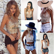 Women Lace Blouse Tops T-Shirt Sleeveless Casual Shirt Loose Pullovers Popular