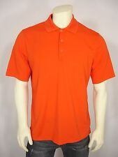 BCG POLYESTER ORANGE 3 BUTTON FRONT ATHLETIC GOLF POLO SHIRT MEN'S L