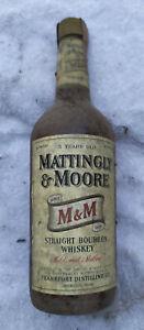 Kellerfund 1 Flasche Mattingly & Moore Straight Bourbon Whisky ca 70er Jahre