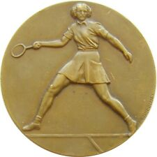 y800 FRANCE 1969 PERREUX Ladies Tennis Sports prize bronze medal by FRAISSE