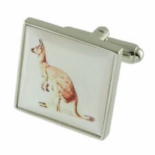 Cuff Links Kangaroo~Animal~Zoo Cufflinks Select Gift Pouch