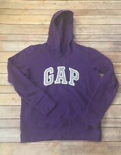 Gap Women's Size Medium Purple Light Weight Casual Logo Stretch Hoodie
