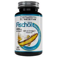 Fischöl 180 Kapseln je 1000mg  Fat2Fit Nutrition Fishoil Herz Gefäße