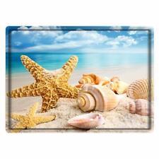 """Nice Bath Mat Rug 24"""" x 16"""" Beach Coastal Seashells Ocean Shabby Chic Farmhouse"""