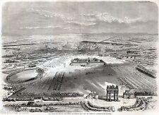 MILANO DA SOPRA L'ARCO DEL SEMPIONE. Duomo. L'Arena. Castello. Risorgimento.1859
