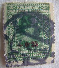 Yugoslavia Stamp 1926 Scott B5 A6  Definitive 25 Green