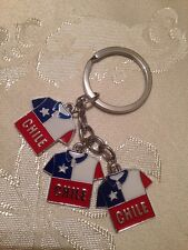 Chile Flag Keychain # 18 Jersey.