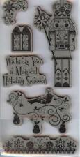 Rubber Cling Stamps A NUTCRACKER CHRISTMAS  WISHING YOU A MAGICAL HOLIDAY