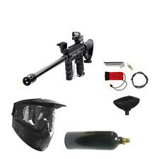"Tippmann 98 Custom Paintball Gun Sniper Marker 18"" Barrel, Stock, Red Dot Pack 1"