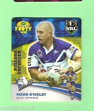 2007 GOLD SERIES  RUGBY LEAGUE TAZO - #6 MARK O'MELEY, CANTERBURY BULLDOGS