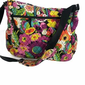 Vera Bradley Messenger Bag Retired Pattern Va Va Bloom Pink Floral