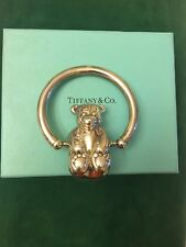 Vintage tiffany co sterling silver baby rattle