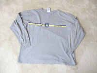 VINTAGE Tommy Hilfiger Long Sleeve Shirt Adult Large Gray Yellow Crest Mens 90s