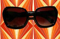 A183✪ Hippie Sonnenbrille 60er 70er Jahre Kult Hornbrille Schlagerparty schwarz