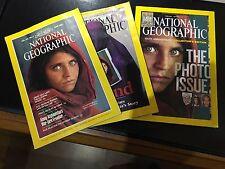 NATIONAL GEOGRAPHIC JUNE 1985, APRIL 2002, OCTOBER 2013 AFGHAN REFUGEE