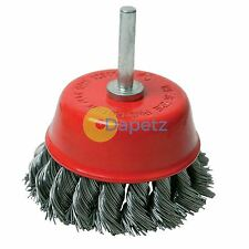 Rotary Steel Twisht Knot Wire Cup Brush 75mm Grinding Wire Cups Brand New