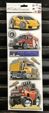 CARS AND TRUCKS Peel & Stick Wall Decals Stickers