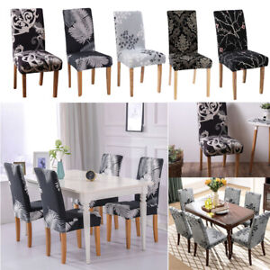 2/4/6X Chair Covers Stretch Dinning Wedding Banquet Party Slipcover Home Decor