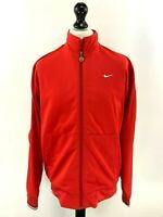 NIKE Mens Tracksuit Top Track Jacket L Large Red Polyester