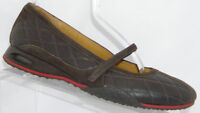 Cole Haan 'Air Bria' brown leather suede mary jane quilted ballet flats 8B 6115