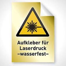 100 GOLD Aufkleber Beschriftung Deko Schild Folie ausdrucken DIN A3 Laserdrucker