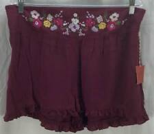 Mossimo Shorts Extra Large 16 18 Purple Textured Pull-On Casual Mini New 2701
