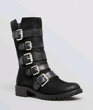 Naya Lether Black Darryn Buckle Boots 6