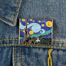 Painting Art Enamel Pins Metal Brooches Badge The Starry Night Pins Van Gogh Oil