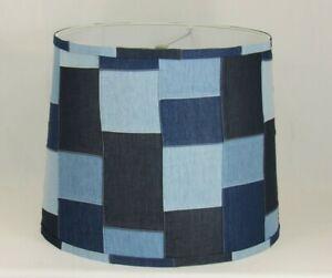 Albert Estate LTD, Denim Patch Quilt Shade, 14 Washer