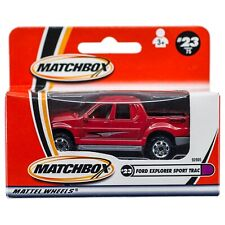 Matchbox #23 Ford Explorer Sport Trac Red 1:69 New In Box 2001