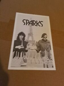 SPARKS FAN CLUB FLYER 75 RON MAEL THIS TOWN AINT BIG ENOUGH GLAM ROCK STARWOOD