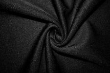 Black Scuba Techno Double Knit Fabric Stretch Polyester Lycra Spandex BTY